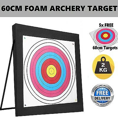 60cm High Density Self Healing XPE Foam Portable Archery Target + 5 Paper Face