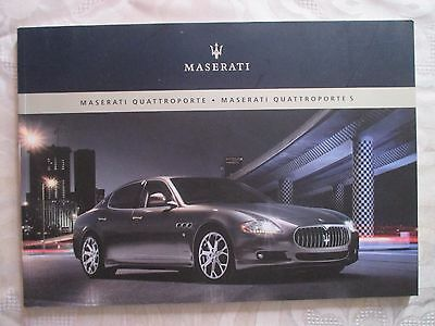 2008 Maserati Quattroporte S Car North America Catalog Sales Brochure Book