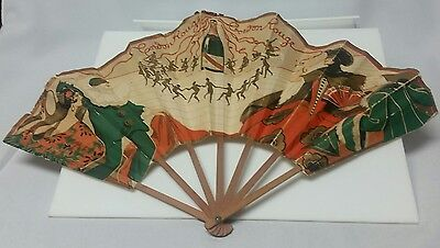 Genuine 1920s Art Deco Advertising Paper Fan G. H. Mumm Champagne by Chambrelent