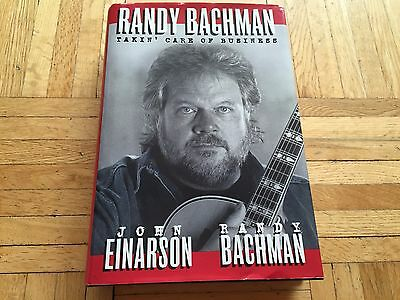 """RANDY BACHMAN Autographed Signed Book """"Takin' Care Of Business"""" Auto BTO RARE!"""