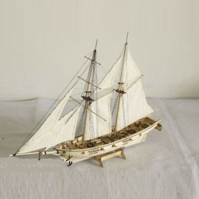 1:100 Scale Wooden Wood Sailboat Ship Kits Home Model Decoration Boat Toy Gift