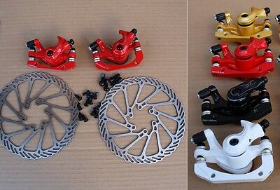 SEAGULL MTB bike Bicycle Disc Brake Calipers With 160mm Rotors Front & Rear Set