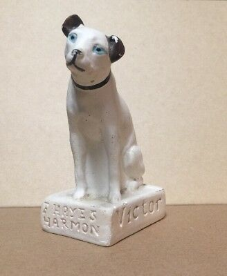 Antique Nipper Victor Dog Advertising F. Hayes Harmon Furniture Chambersburg Pa