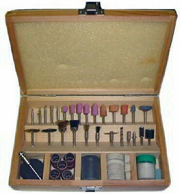 100 piece Rotary Tool Accessories Set with Wooden Storage Box