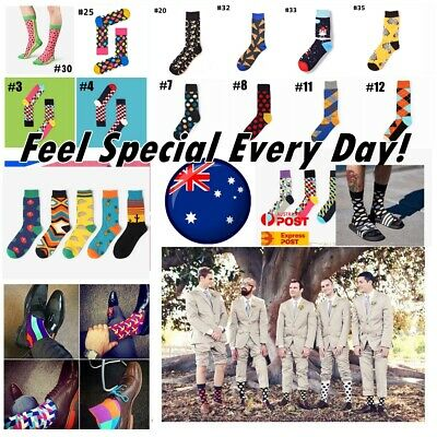 Men Cotton Socks Sox Novelty Stance Funky Size 7-11 Bux Party Casual Formal AUS