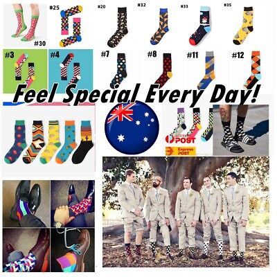 Men Cotton Socks Sox Novelty Stance Funky Size7-11 Bux Party Casual Formal AUS