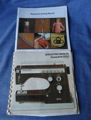 Instruction Book /Operating & Sewing Manual For Husqvarna 2000 Sewing Machine