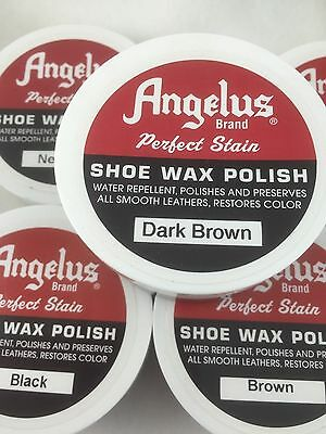 Angelus Leather Wax Polish for all smooth leather Polish & restores colour