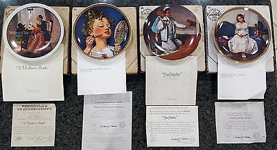 LOT of 10 Vintage The Edwin M Knowles Fine China Co. Plates by Norman Rockwell