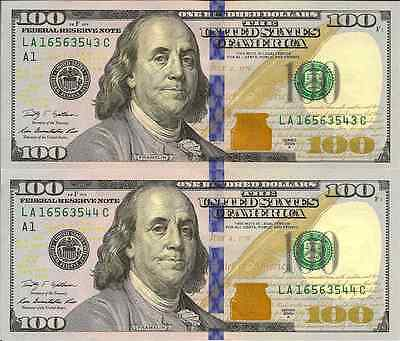 USA: 2009 Uncirculated Consecutive Pair of One Hundred Dollar Banknotes