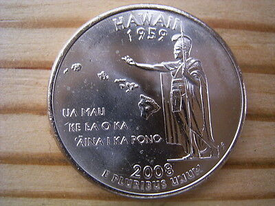 """2008p  usa state  quarter  """" hawaii """" dollar coin collectable"""