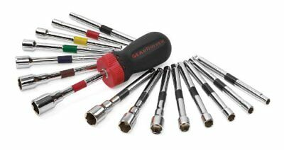 NEW GearWrench 8916 16 Piece Ratcheting Screwdriver Nut Driver Set