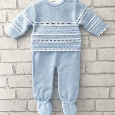 Spanish Baby Boy Knitwear Knitted Outfit Newborn