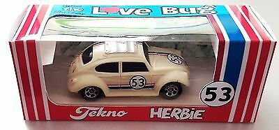Disney HERBIE Love Bug 53 VW Diecast 1:64 Volkswagen Car in Repro TEKNO BOX