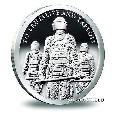2015 Silver Shield Slave Police State 1 oz .999 Silver Proof COA #402 of 1190