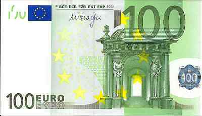 """2002 Uncirculated One Hundred Euro Banknote """"Genuine"""""""