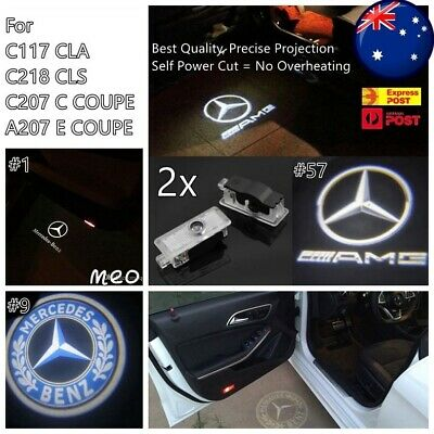 2x Mercedes Benz CLA Door Welcome Logo Ghost Shadow Light LED Courtesy Laser