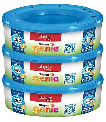 3x Playtex Diapers Genie 270 Count Refill Cassettes(Total Of 810) Free Shipping
