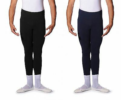 ROCH VALLEY Mens and Boys Cotton/Lycra Stirrup Leggings Dance Ballet Black Navy