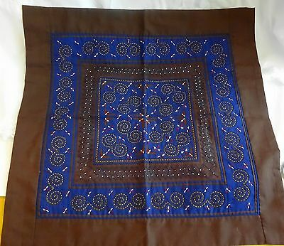 Reverse Embroidery Applique Large Square Pillow Face Hmong Hand Stitched