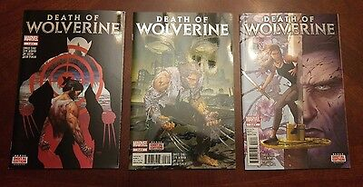 Death of Wolverine # 1 2 3 Holographic/Foil Covers NM condition