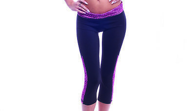 BodyZone Apparel Women's Dance and Fitness Pants. Black/Pink. Made in the USA.