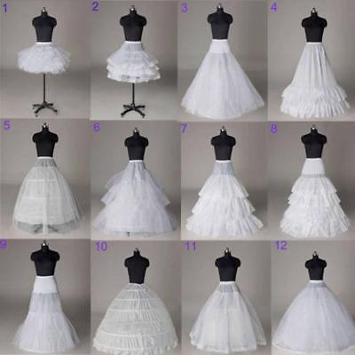 Bridal Petticoat White Crinoline Slips Underskirt for Wedding Dress Wedding Gown