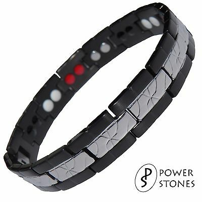 Men Women Strong Magnetic Therapy Bracelet Bio 4In1 Arthritis Pain Relief  034B