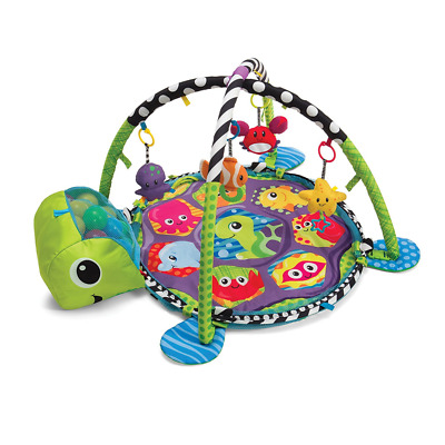 New Baby Activity Gym Mat and Ball Pit Colorful Balls Turtle's Head Fun Play