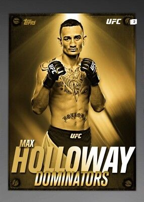 topps ufc knockout digital Max Holloway Dominators Gold Award