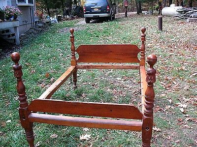 Antique Knock Down Chestnut Handy Man Bed 10 Minutes To Assemble Or Disassemble