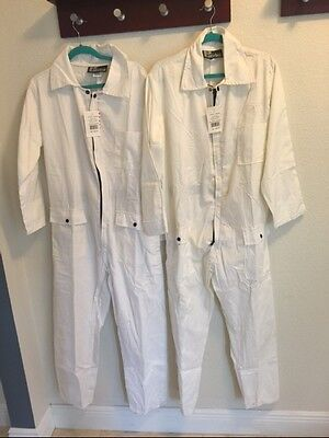 Lot Of 2 mens Long Sleeve Unlined Coveralls Jumpsuit By Patriot Industries Med