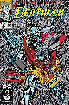 Marvel Deathlok 1991 #1 July 1991 Origin Deathlok, Silver Ink Cover