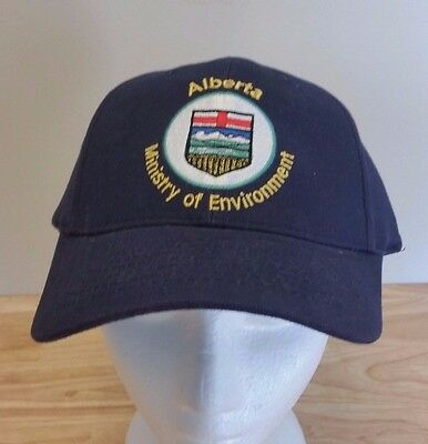 Alberta Environment Ministry Cap Hat One Size Buckle Adjust Provincial Crest