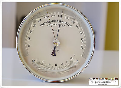 @ LUFFT Präzisions Barometer Thermometer CHROM  Aneroid  Marine  Barograph @
