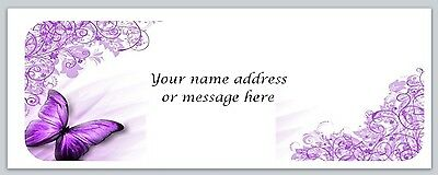 30 Personalized Return Address Labels Butterfly Buy 3 get 1 free (bo359)