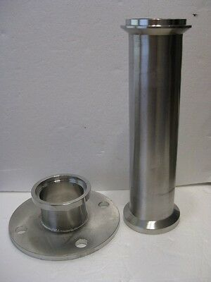 Stainless Steel 7.5 in  Vacuum Flange C153M88352C and 12.75 in Pipe  UNE T304