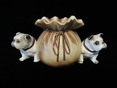 Vintage Ceramic Bulldog Guard Dog Bank