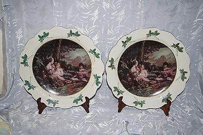 "Set Of Large ( 18 1/2"") European Victorian Chargers With Maker Mark"