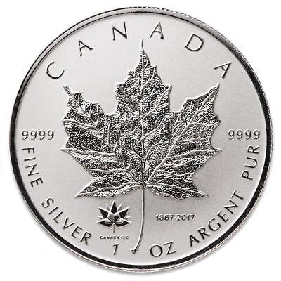 2017 MAPLE LEAF 150TH ANNIVERSARY PRIVY 1oz REVERSE PROOF SILVER COIN