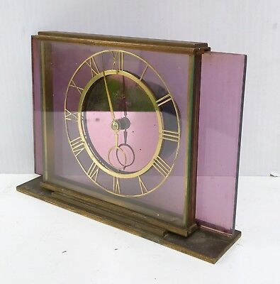 Smiths Glass And Brass Mystery Type Clock