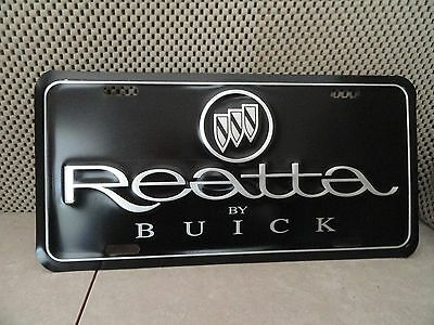 Buick Reatta Front Stamped Metal License Plate Never Used