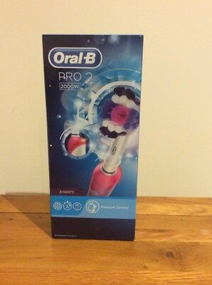 Braun Oral B Pro2000 Crossaction 3d Clean Electric Rechargeable Power Toothbrush 163 26 00