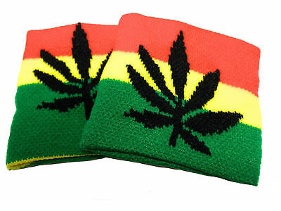 One Pair Wristband Cannabis Leaf Sweatband Party bags Fillers Birthdays Gifts