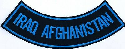 "Iraq Afghanistan Military Veteran Motorcycle Biker Vest 11"" Rocker Patch Cl-54"