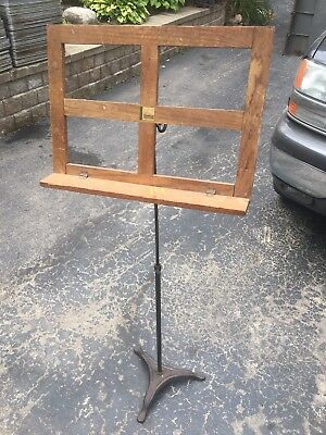 hamilton music stand vintage wooden Bible Book Gothic Victorian Wood Cast School