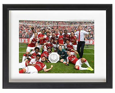 Arsenal Fc Team Photo Community Shield 2017 Winners A4 Poster Xhaka Giroud Ozil