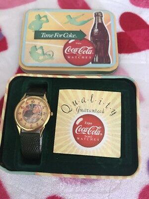 1988 Time For Coke Watch With Tin Box