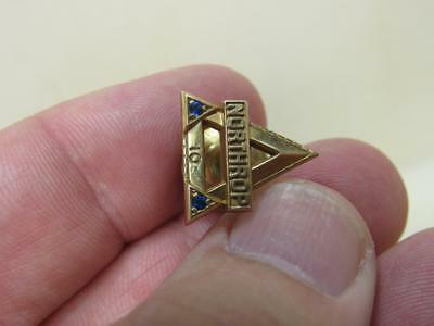 Northrop Gold Filled 10 Years of Service TIe Tack tac Pin Military (17G1)