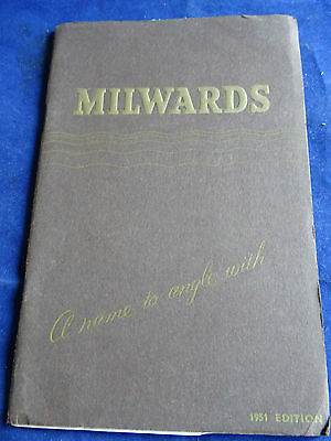 Vintage Milwards 1951 Advertising Fishing Catalogue